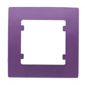 рамка единична, лилава, makel, lillium natural kare, 32078701