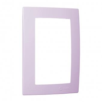 рамка за двоен контакт,  светло лилава, makel, lillium natural kare, 32095710