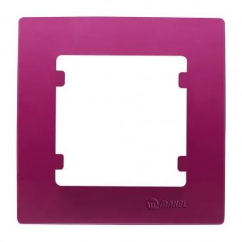 рамка единична, цикламено розова, makel,  lillium natural kare, 32085701