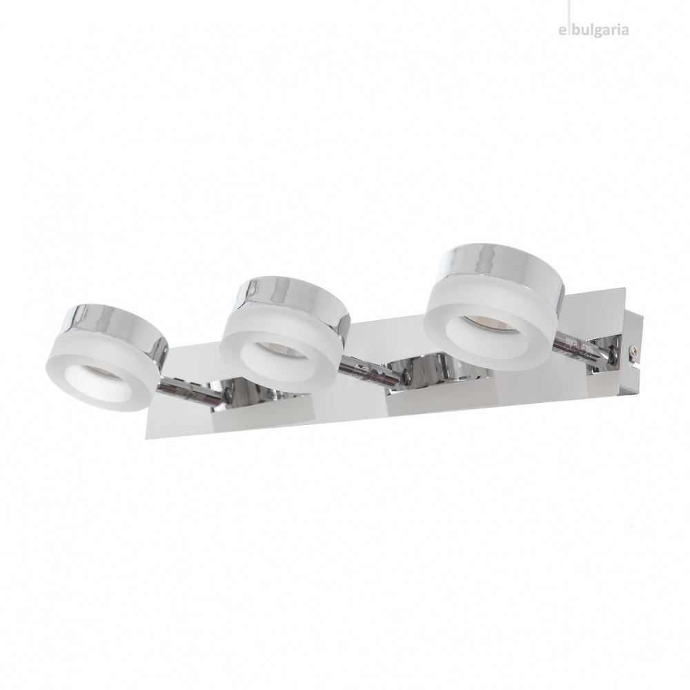 метален спот, хром, elbulgaria, led 3x5,6w, 4000k, 1240/3w