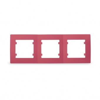 тройна рамка, розова, makel, lillium natural kare, 32093703