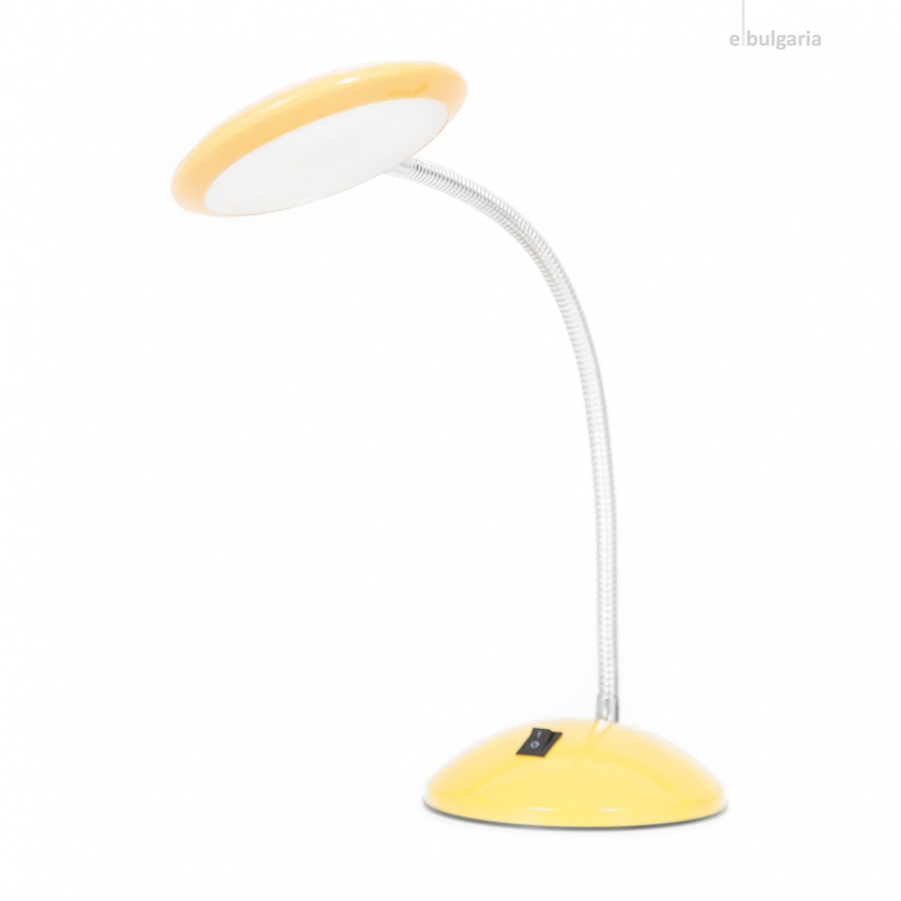 метална работна лампа, жълт, elbulgaria, led 1x5w, 5000k, 943 yl