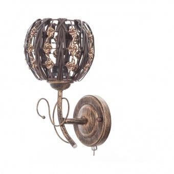 метален аплик, кафяв, elbulgaria, 1x40w, 1281b/1w sbc