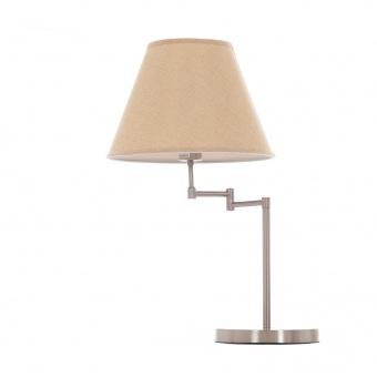 метална настолна лампа, мат хром, elbulgaria, 1x40w, 1189/1T