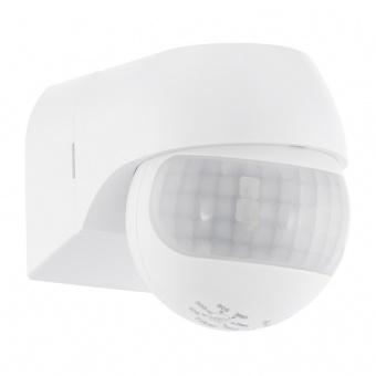 pvc сензор за движение, white, eglo, detect me 1, 180°, 12m, 10-900sec, max 400w,  96452