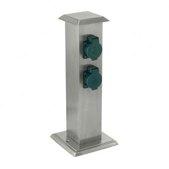 метален стълб с 4 контакта, stainless steel, eglo, park 4, 90748