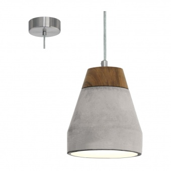 пендел от бетон, grey, eglo, tarega, 1x60w, 95525