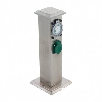 метален стълб с контакт и таймер, stainless steel, eglo, park t, 96351