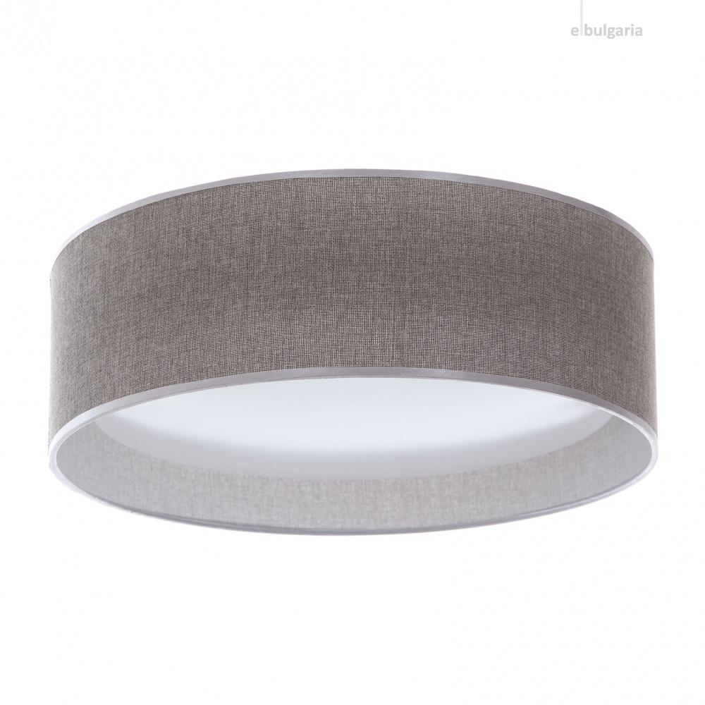 текстилен плафон, сив, elbulgaria, led 24w, 3000-4500k, 1350c/24w grey