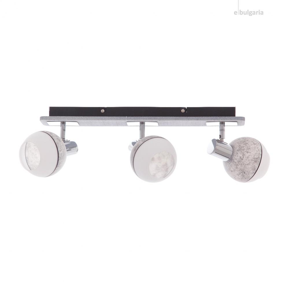 метален спот, сив, elbulgaria, 3x40w, 1421/3 ch