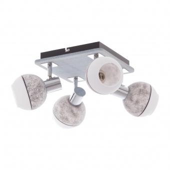 метален спот, сив, elbulgaria, 4x40w, 1422/4 ch