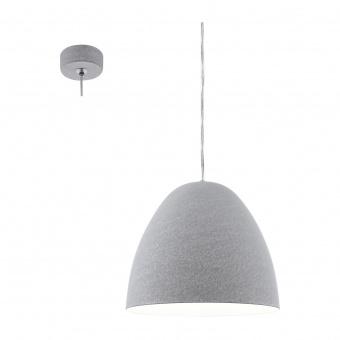 метален пендел, grey, eglo, sarabia, 1x60w, 94353