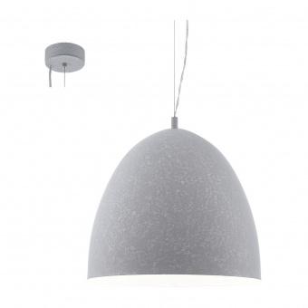метален пендел, grey, eglo, sarabia, 1x60w, 94354