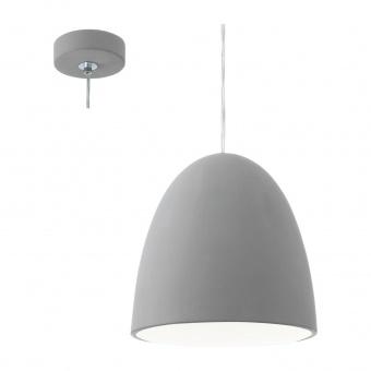 керамичен пендел, grey, eglo, pratella, 1x60w, 92521