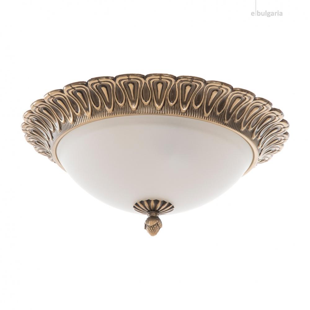 метален плафон, античен бронз, elbulgaria, 2x40w, 1392/40 cp