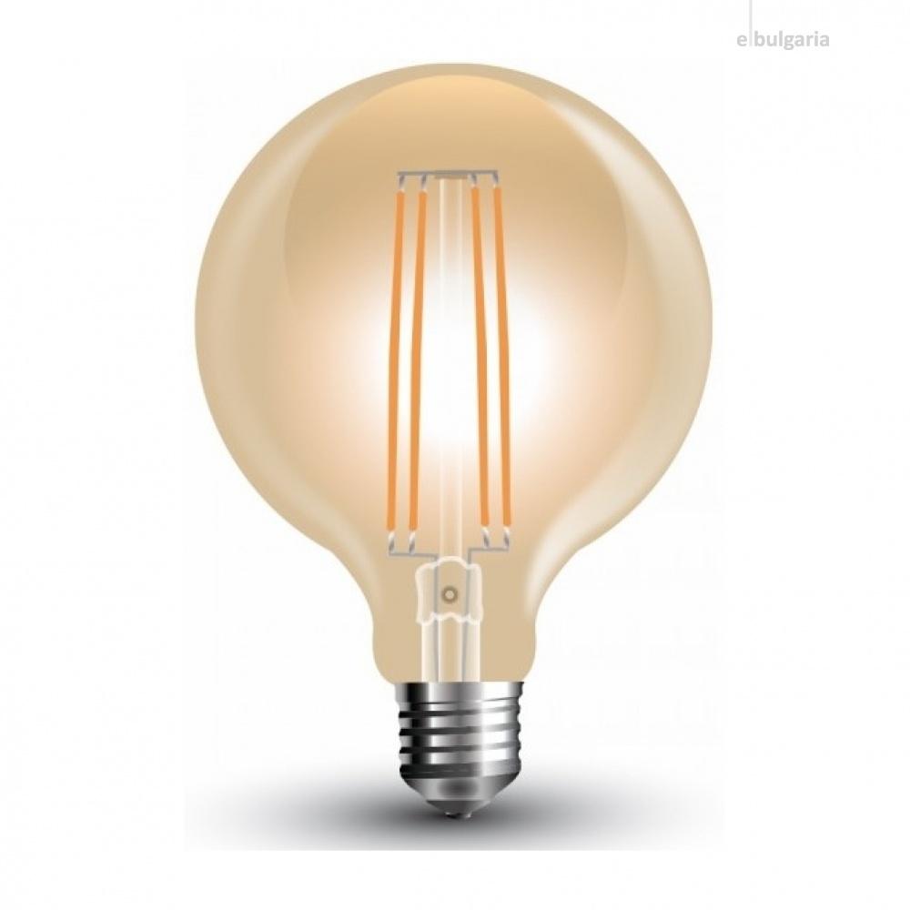 led лампа, 7w, e27, топла светлина, led vintage, 2200k, 700lm, 7147