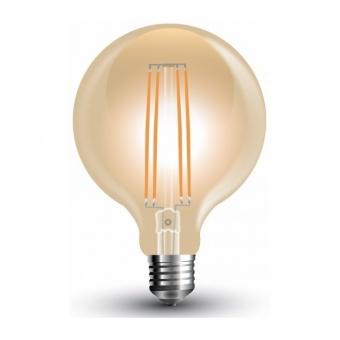 лед лампа, 7w, e27, топла светлина, led vintage, 2200k, 700lm, 7147