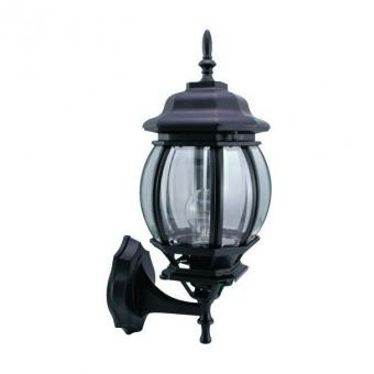 градински фенер голям стенен, black, pacific, 1x40w, big 01 bk