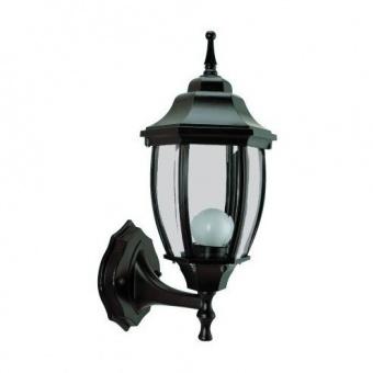 градински фенер среден стенен, black, pacific, 1х40w, middle 01 bk