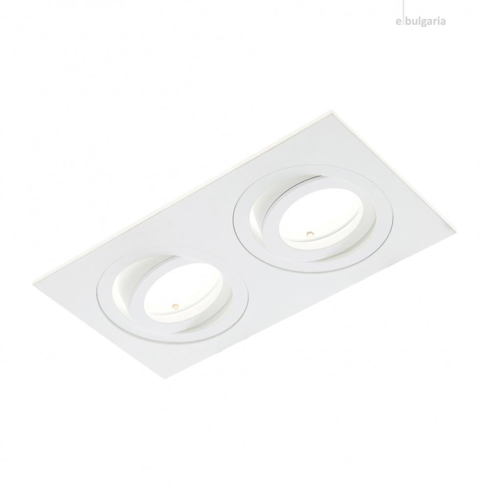 алуминиева  луна, бял, elbulgaria, 2x40w, 082 wp