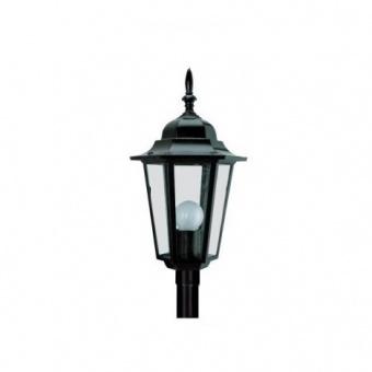 градински фенер малък стоящ, black, pacific, 1х40w, small 02 bk