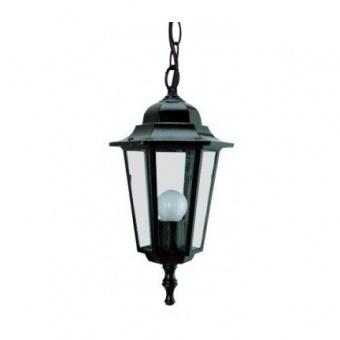 градински фенер малък висящ, black, pacific, 1х40w, small 04 bk