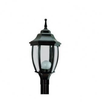 градински фенер среден стоящ, black, pacific, 1х40w, middle 02 bk