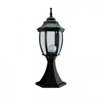 градински фенер среден стоящ, black, pacific, 1х40w, middle 03 bk