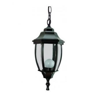 градински фенер среден висящ, black, pacific, 1х40w, middle 04 bk