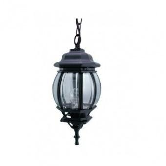 градински фенер голям висящ, black, pacific, 1x40w, big 04 bk