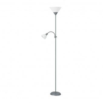 метален лампион, silver/white, rabalux, action, 1x100w+1x25w, 4028
