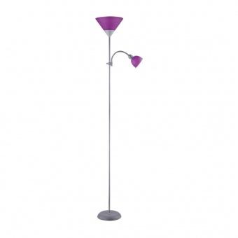 метален лампион, silver/purple, rabalux, action, 1x100w+1x25w, 4020