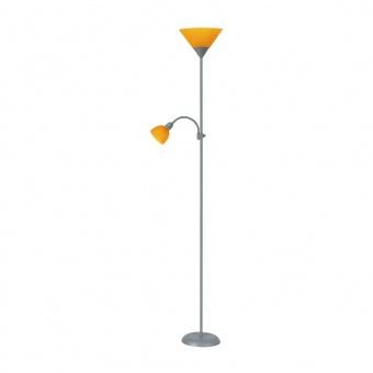 метален лампион, orange/silver, rabalux, action, 1x100w+1x25w, 4026
