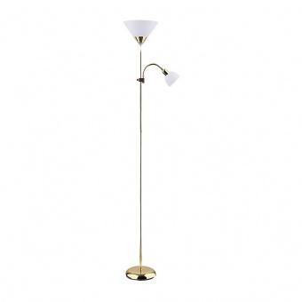 метален лампион, gold/white, rabalux, action, 1x100w+1x25w, 4060