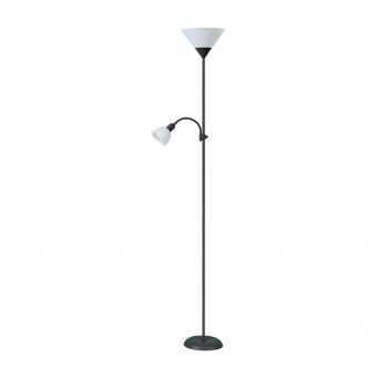 метален лампион, black/white, rabalux, action, 1x100w+1x25w, 4062
