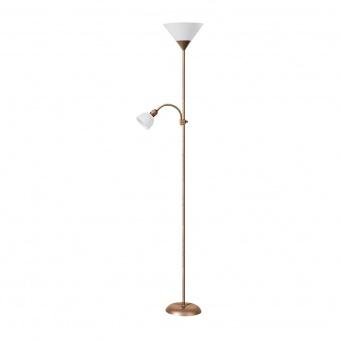 метален лампион, bronze/white, rabalux, action, 1x100w+1x25w, 4065