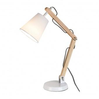 дървена работна лампа, white/beech, rabalux, thomas, 1x40w, 4191