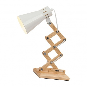 дървена работна лампа, white/beech, rabalux, edgar, 1x25w, 4430
