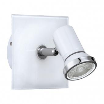 метален спот, white, eglo, tamara 1, led 1x3.3w, 3000k, 1x240lm, 95993