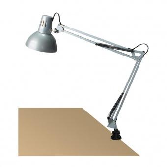 метална работна лампа, silver, rabalux, arno, 1x60w, 4216