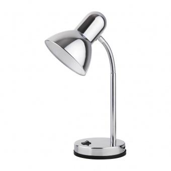 метална работна лампа, chrome, rabalux, clark, 1x40w, 4255