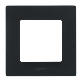 pvc единична рамка, черна, legrand, niloe, 397051