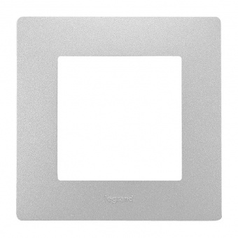 pvc единична рамка, алуминий, legrand, niloe, 397041
