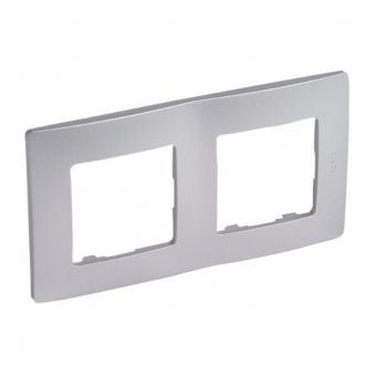 pvc двойна рамка, алуминий, legrand, niloe, 397042