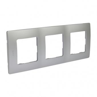 pvc тройна рамка, алуминий, legrand, niloe, 397043