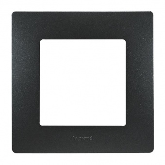pvc единична рамка, бронз, legrand, niloe, 397031