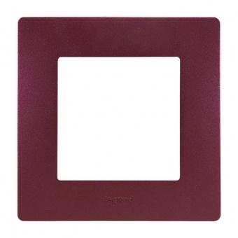 pvc единична рамка, лилав, legrand, niloe, 397081