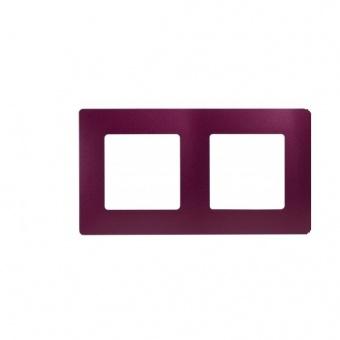 pvc двойна рамка, лилав, legrand, niloe, 397082