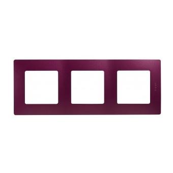 pvc тройна рамка, лилав, legrand, niloe, 397083