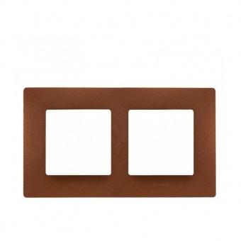 pvc двойна рамка, какао, legrand, niloe, 397072